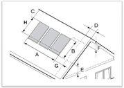 Konstrukce na šikmou střechu s háky pro 3 kol.
