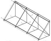 Konstrukce na rovnou střechu pro 3 kol.